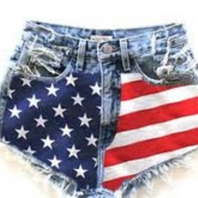 Jane's patriotic shorts