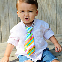 Boys Rainbow Tie for Baby to Toddler Kids 8 inch adjustable