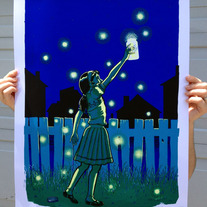 """Firefly Girl"" - limited edition art print"