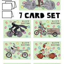 Star Wars on bike Easter 7 card set