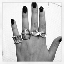 Silver Infinity Two Finger Ring