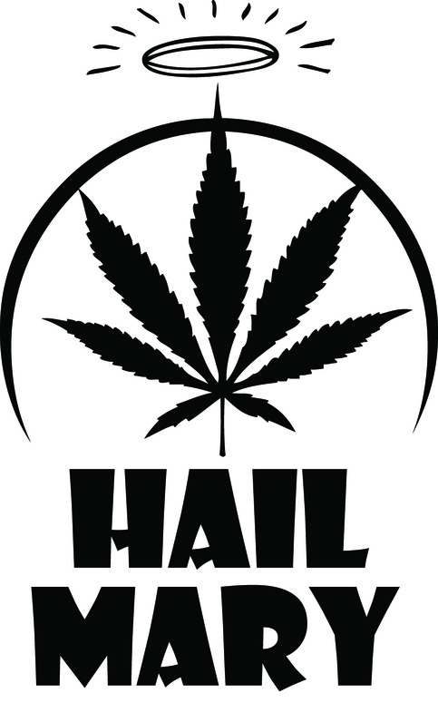 hail mary jane holy marijuana funny decal sticker on storenvy