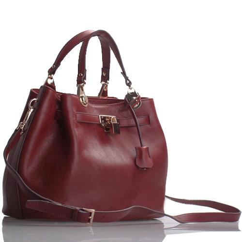 Mimi' Dark Red Italian Leather Handbag · The Handbag Maven ...