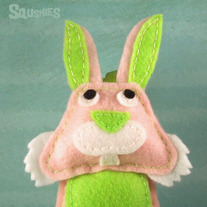 Felt  Easter Ornament - Quinnie the Rabbit