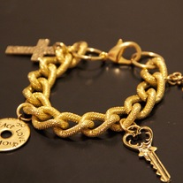 """Love Is Key"" Charm Bracelet (gold or silver)"
