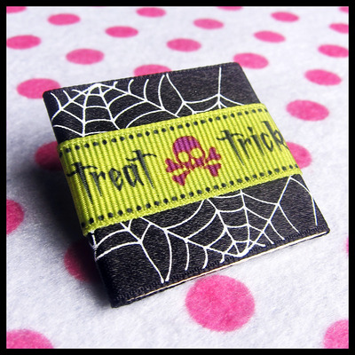 Ribbon candy halloween trick diy pin brooch or magnet