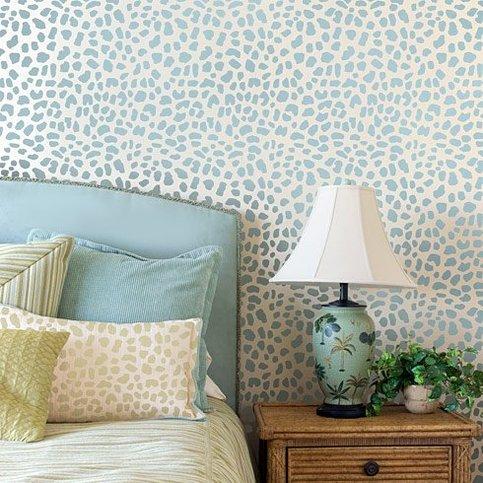 Leopard Skin Allover Stencil - Small Scale - Reusable wall ...
