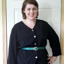 Maren Woman Black Blouse Sz 22