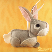 Felt Animal Easter Decoration - Benny the Bunny