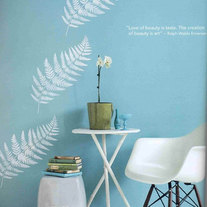 Fern Leaf Flower Designer Pattern Wall Stencil Deco