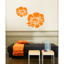 Medium Anemone Flower Garden Designer Wall Stencil Home Kids Decor