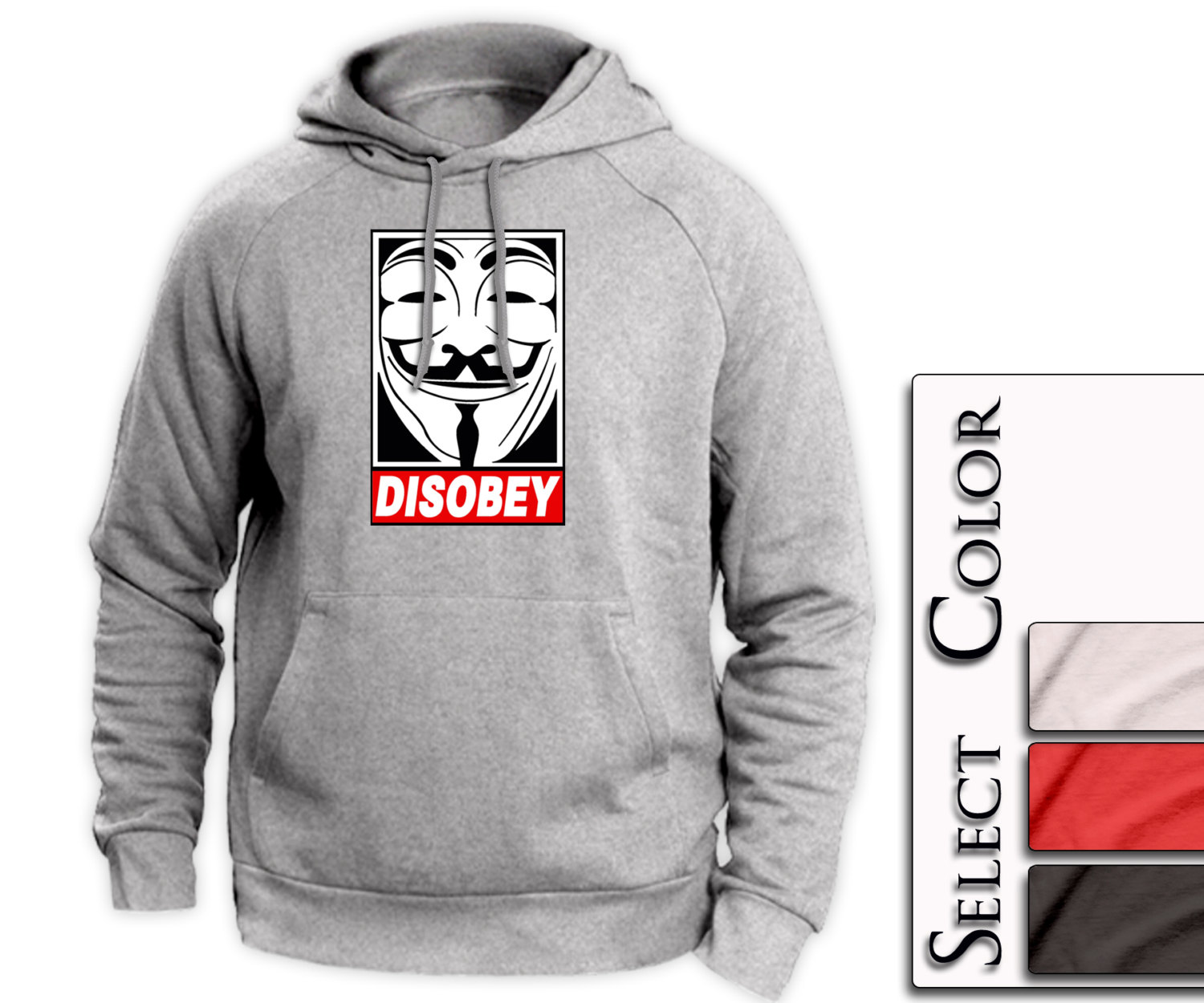 Disobey Hoodie -  obey supreme style tshirt swag - A53