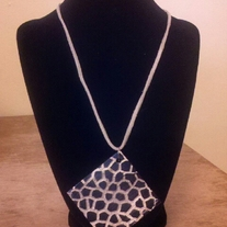 Giraffe Diamond Shaped Necklace