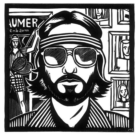 'Richie Tenenbaum' Linocut Relief Print on Storenvy