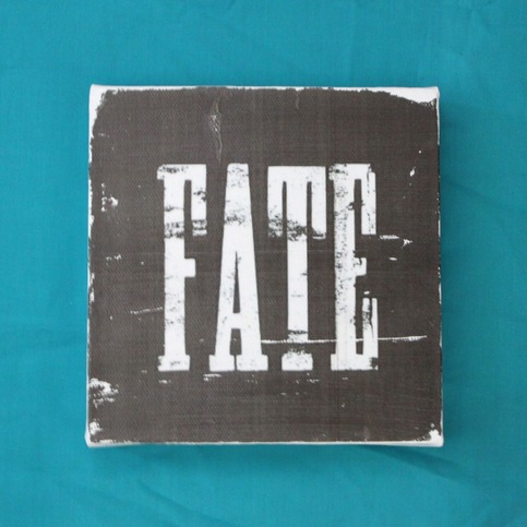 Subway Art Wall Hanging Canvas - FATE
