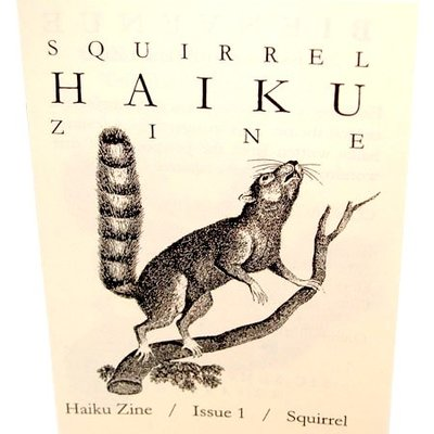 Squirrel haiku zine