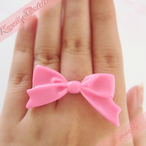 Simply Sweet Pink Bow Ring
