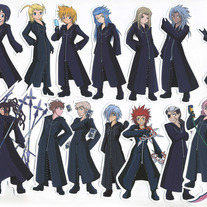Stickers - KH Organization XIII Character Stickers (Fanart)