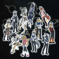 Keychains - Raven Wolf Book 1 - The Wilds- Character Keychains
