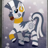 Notebook L - My Little Pony FiM: Zecora (Fanart)