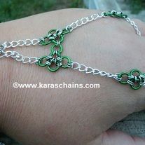 Green and Silver Hand jewelry