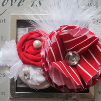 Red and White Stripes headband