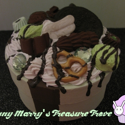 Mint and chocolate decoden box