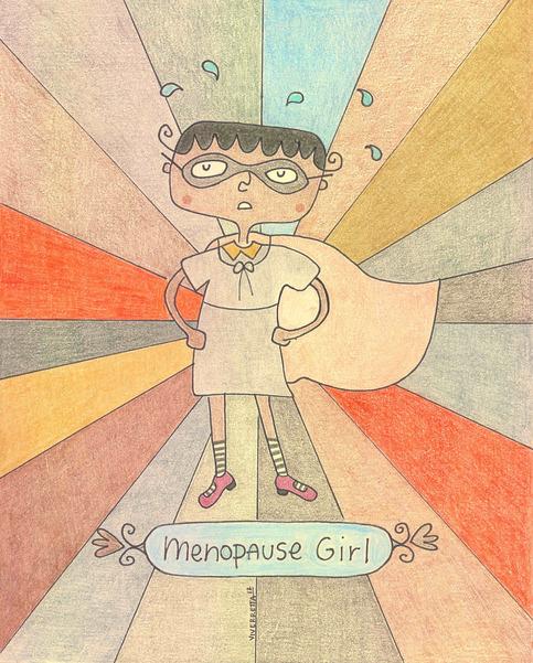 """""""Menopause Girl"""" Hand Lettered Print"""