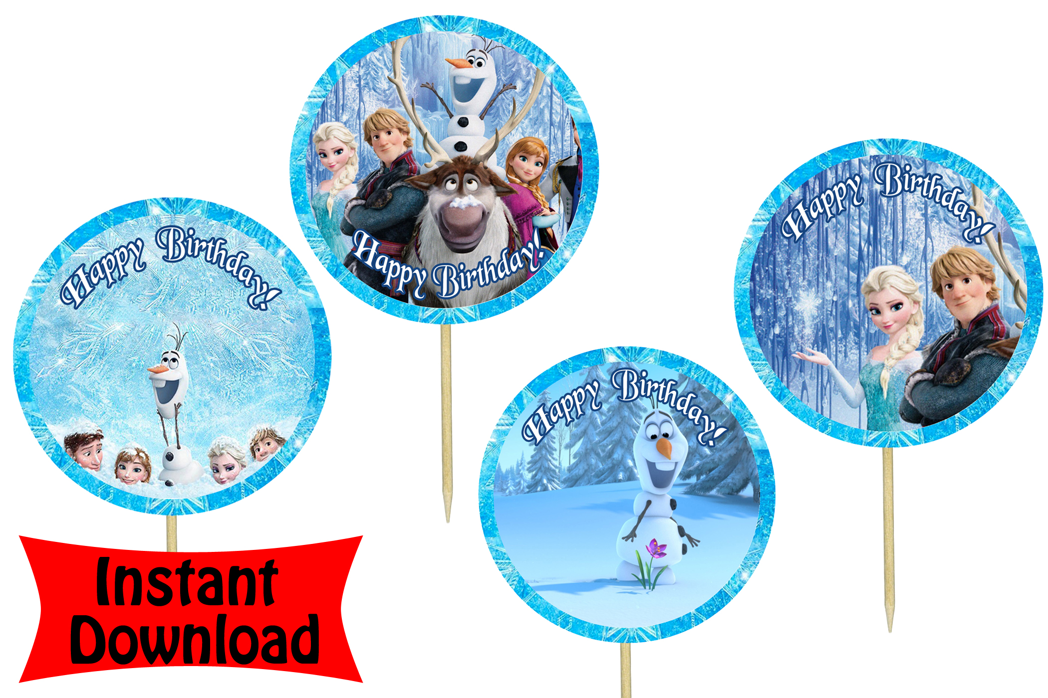 Disney Frozen Birthday Party Print