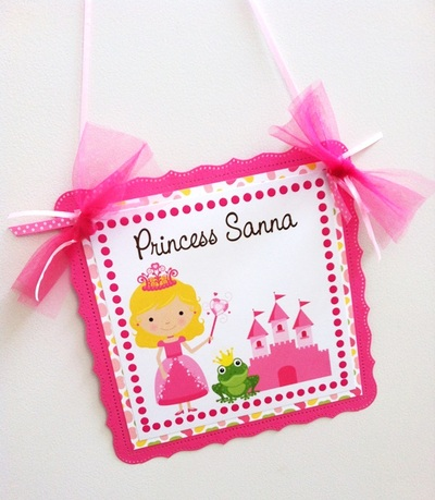 Princess Welcome Door Sign for Birthday Party