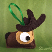 Felt Reindeer Ornament, Felt Christmas Ornament- Dasher the Reindeer