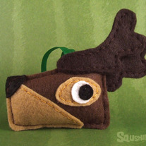 Felt Christmas Ornament, Felt Reindeer Ornament - Prancer the Reindeer