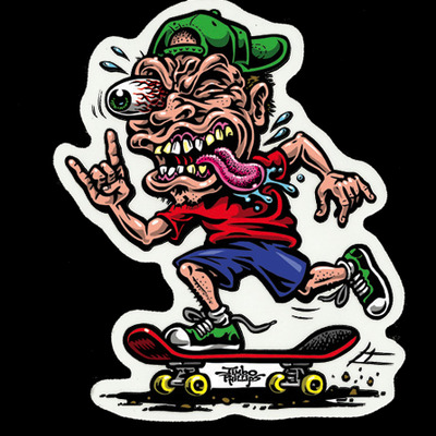 Skate freak sticker · jimbo phillips webstore · online store powered by storenvy