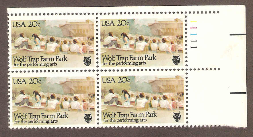 Wolf Trap Farm Park 20 Cent Stamp