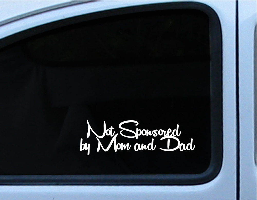 8 5 cool my car is not sponsored by mom and dad window bumper decal sticker · stick it die cut stickers · online store powered by storenvy