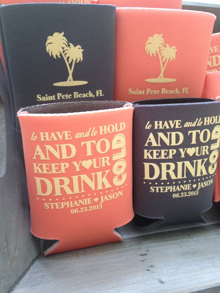 custom wedding koozies