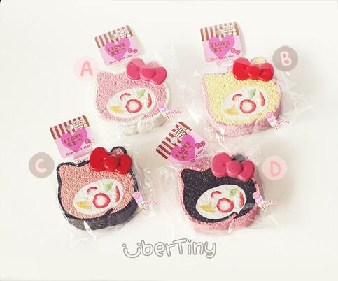 Ibloom Cake Roll Squishy : Rare* Jumbo Hello Kitty Fruit Roll Cake Squishy (licensed) ? Uber Tiny ? Online Store Powered by ...