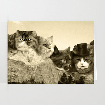 Meowmore 3-pack of stationary cards with matching envelopes