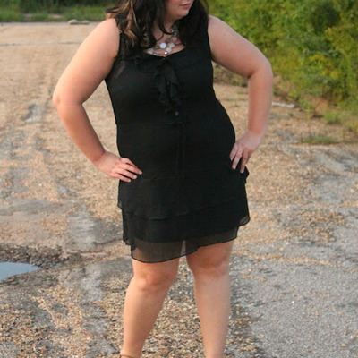 Old navy chiffon dress, black- large
