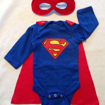 New Dad Gift Set Or Big Brother Superman T Shirt With Cape And Superhero Baby Outfit Mask Father Son Super Hero Costume Just Kidn