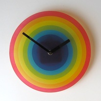 Objectify Rainbow Wall Clock