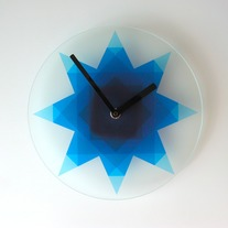 Objectify Blue Star Wall Clock
