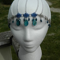 Blue chandelier hair web