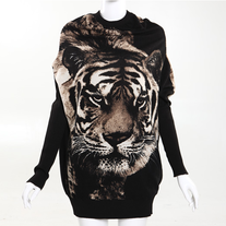 Tiger Print Oversized Sweater