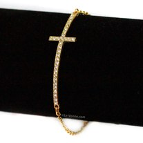 Cross Crystal Bracelets - Gold