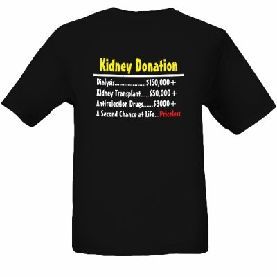 Simple guy t shirts kidney donation priceless online for Www custom t shirts