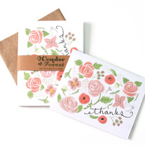 Botanical Thank You Cards Set of 6