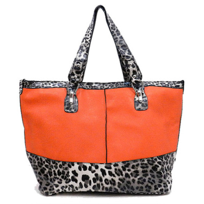 Orange animal handbag
