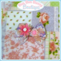 Purple & Pink Daisy Bow