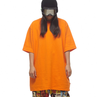 Ehoto ski & snowboard plain tall tee - orange